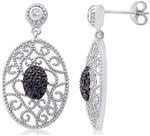 Silver Earring with Cubic Zirconia