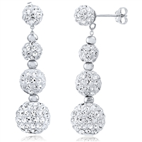 Silver Crystal Earrings