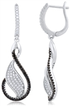 Silver Earrings with Micro Set Cubic Zirconia