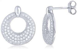 Silver Earring with Micro Set CZ