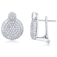 Silver Clip-on Earring with Micro Set CZ