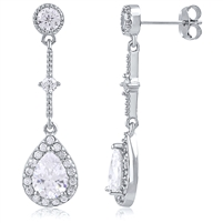 Silver Dancing Earring with CZ