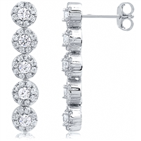 Silver Drop Earrings with CZ