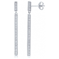 Silver Dangling Earring with CZ