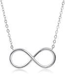 Plain Silver Infinity Necklace