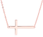 Silver Plain Side Ways Cross Pendant