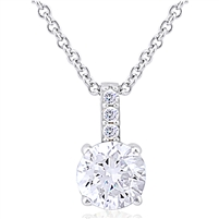 Necklace with CZ - Micro Setting