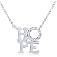 Silver Necklace with CZ -Hope