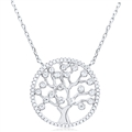 Silver Necklace with Cubic Zirconia Tree of Life