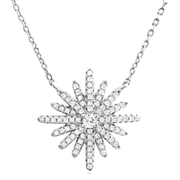 Silver Necklace with Cubic Zirconia