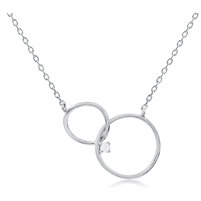 Silver Necklace with CZ