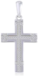 Silver Cross Pendant with Micro Set Cubic Zirconia