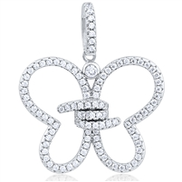 Silver Butterfly Pendant With CZ