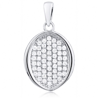 Silver Pendant With CZ - Micro Setting
