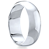 Plain Band Silver Ring