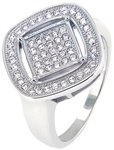 Silver Ring with Micro Set Cubic Zirconia