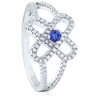 Silver Ring with Micro Set CZ
