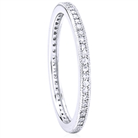 Silver Eternity Band Ring