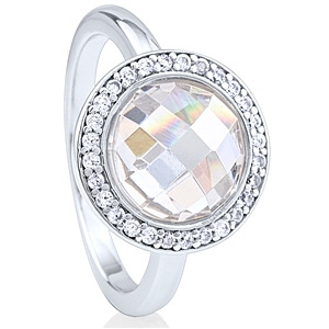 Silver Ring with Cubic Zirconia