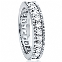 Silver Eternity Band with Cubic Zirconia