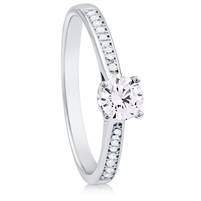 Silver Solitaire Ring with CZ