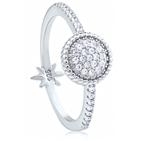Silver Ring with CZ