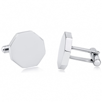Stainless Steel Octagon Cufflink