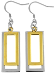 Stainless Steel Earring with Gold Plated