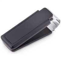 Brass Rhodium Plated With Black Paint Money Clip