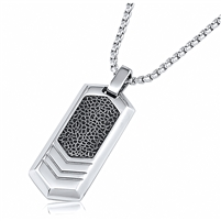 Stainless Steel Pendant With 24 Inches Rolo Chain