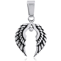 Stainless Steel Wings Pendant