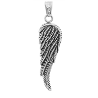 Stainless Steel Wing Pendant