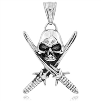 Stainless Steel Pendant Swords with Skull