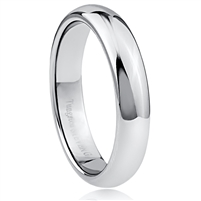 Tungsten Ring-8mm wide- Comfort Fit. Polished Shiny Outside With Black Carbon Fiber