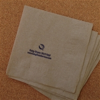 Natural Beverage Napkin (1 ply, 1/4 fold)