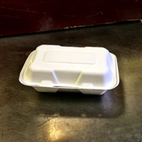 "StalkMarket Compostable Bagasse Clamshell 7"" x 5"" x 3"""