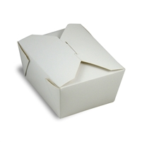 EcoSource The Box #1 White Take Out Container