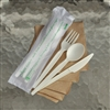 "StalkMarket Compostable 6.5"" Knife/Fork/Spoon Set"