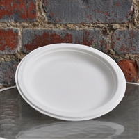 "EcoSource Compostable Bagasse 7"" Round Plate"