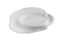 "StalkMarket PET Dome Lid for Bagasse 9"" Round Plate"