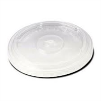StalkMarket Compostable Clear PLA Cold Cup Flat Lid
