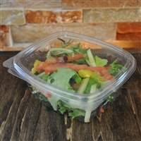 StalkMarket Clear Compostable PLA Hinged Deli Box 12 oz.