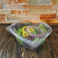 StalkMarket Clear Compostable PLA Hinged Deli Box 16 oz.