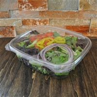 StalkMarket Clear Compostable PLA Hinged Deli Box 24 oz.