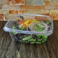 StalkMarket Clear Compostable PLA Hinged Deli Box 32 oz.