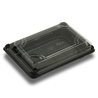 "StalkMarket Compostable Sushi Tray with Lid 7"" x 5"" 1.75"""