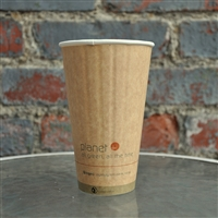 Planet+ Compostable Insulated Hot Cup 16 oz