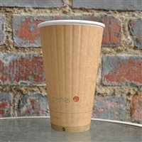 Planet+ Compostable Insulated Hot Cup 20 oz