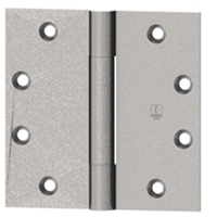 Hager 001367, 700 Series 4-1/2 X 4-1/2 Steel Full Mortise Standard Weight Plain Bearing 3 Knuckle Hinge In Satin Chromium Plated Finish Box Of 3 (Lifetime Warranty)