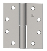 "Hager 002850, 920 Series Left Hand 4-1/2"" X 4"" Steel Full Mortise Standard Weight Plain Bearing 2 Knuckle Hinge - Primed Finish, Box Of 3"
